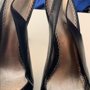bebe Shoes - BEBE Patent leather sling back open toe